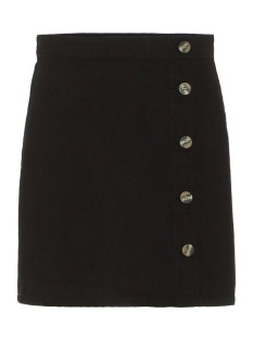 Pieces Rok PCEMMELIE MW BUTTON SKIRT BL620-AR 17098265 Black