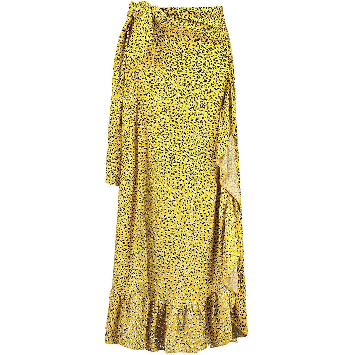 gele rok met ruffles e90120 garcia rok 3065 sulphur