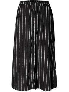 pcterese mw midi skirt  d2d 17098979 pieces rok black/white bright