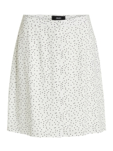 Object Rok OBJCLARISSA SHORT SKIRT 103 23029861 Gardenia/BLACK DOTS