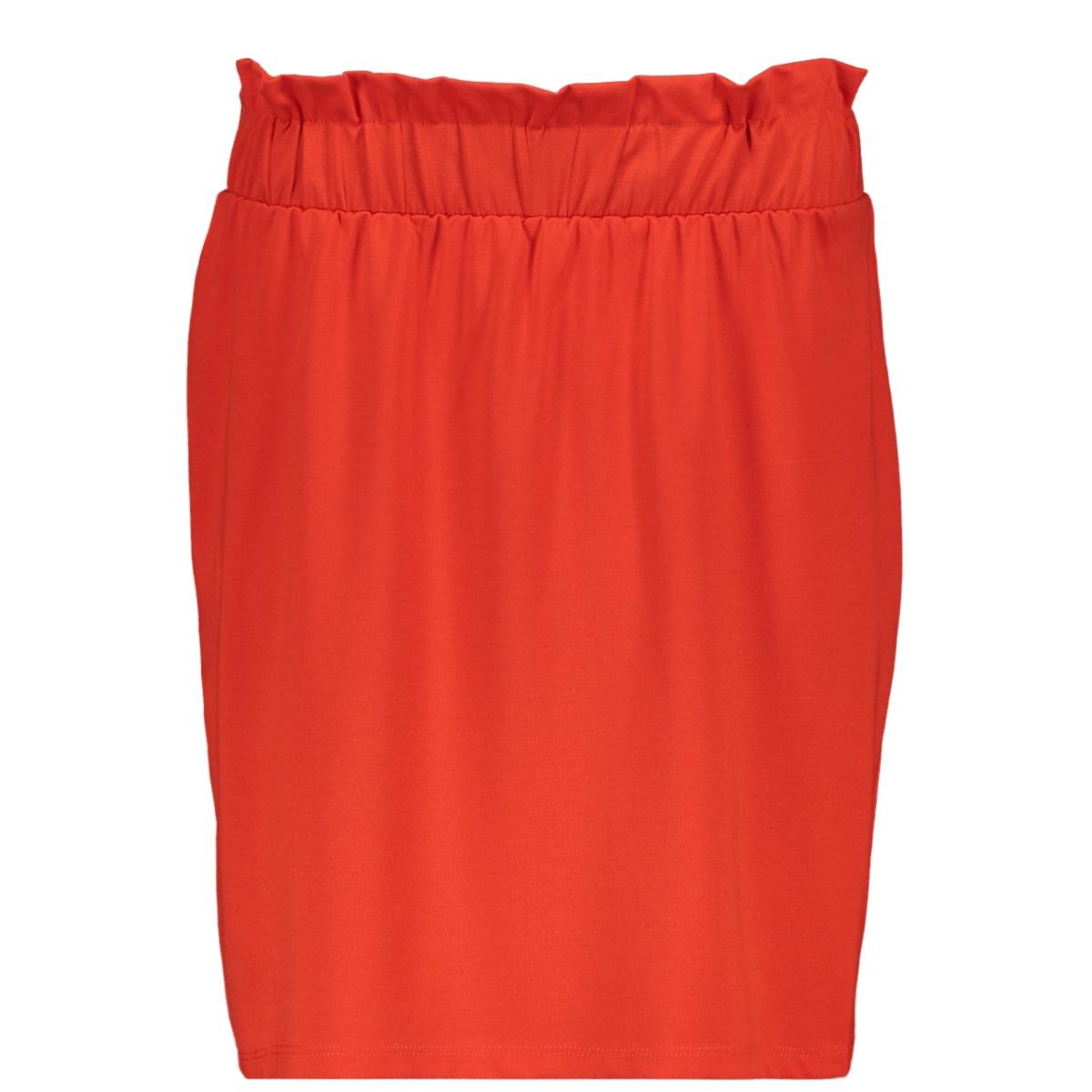 vmroma hw short skirt jrs  10212464 vero moda rok fiery red/solid