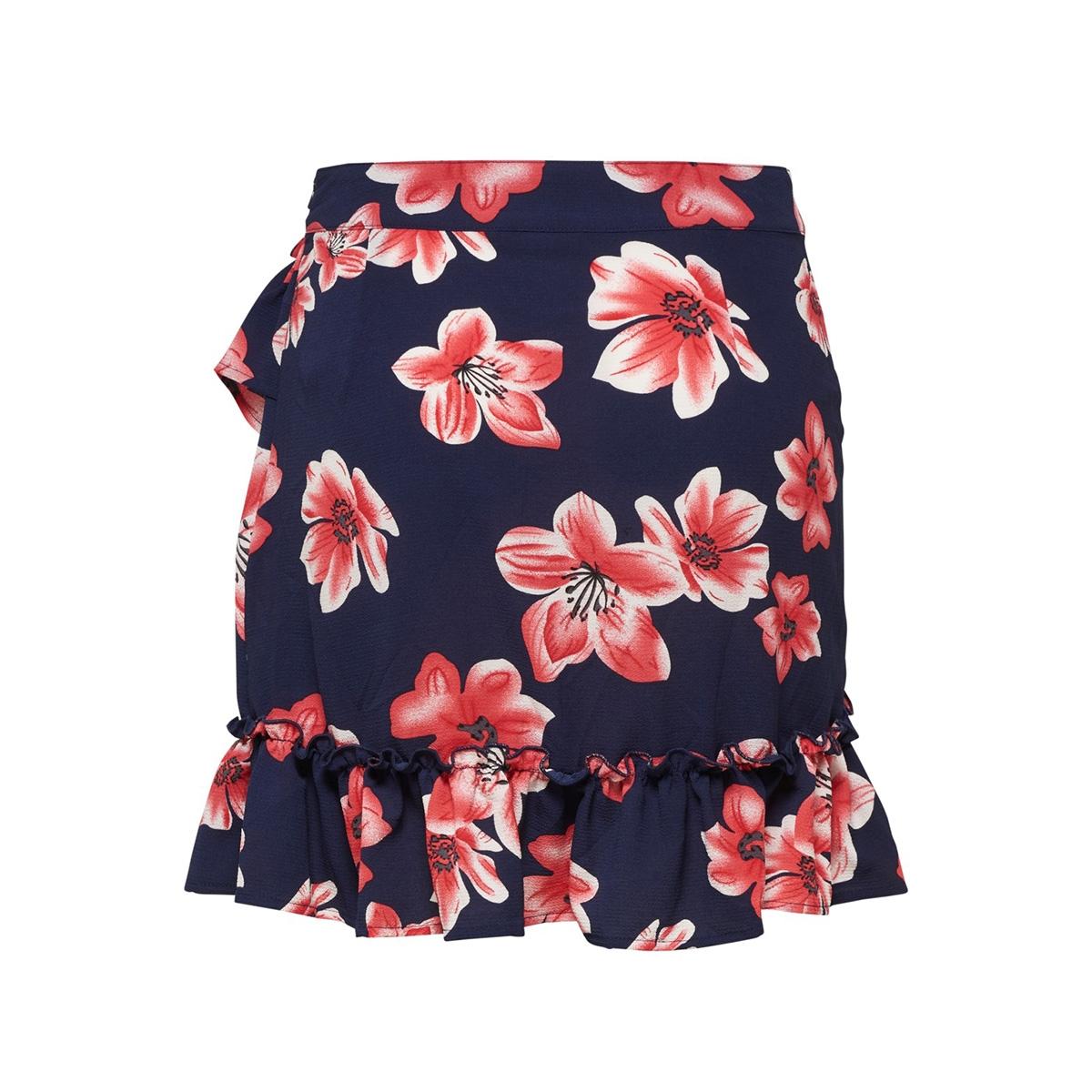 onlnova lux wrap skirt aop 5 wvn 15178514 only rok night sky/berlin flower