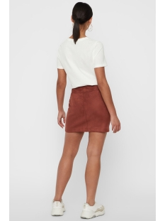 vmdonna dea nw faux suede short skirt 10215859 vero moda rok mahogany