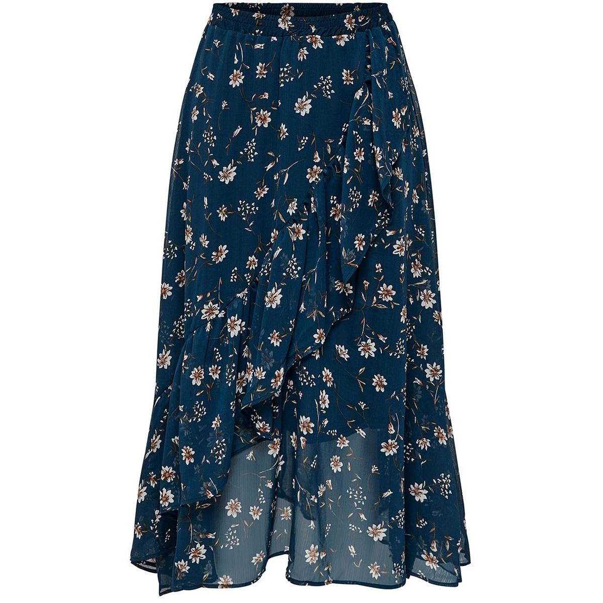 onlsheena mid skirt wvn 15176514 only rok insignia blue/flower fie