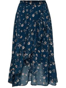 Only Rok ONLSHEENA MID SKIRT WVN 15176514 Insignia Blue/FLOWER FIE