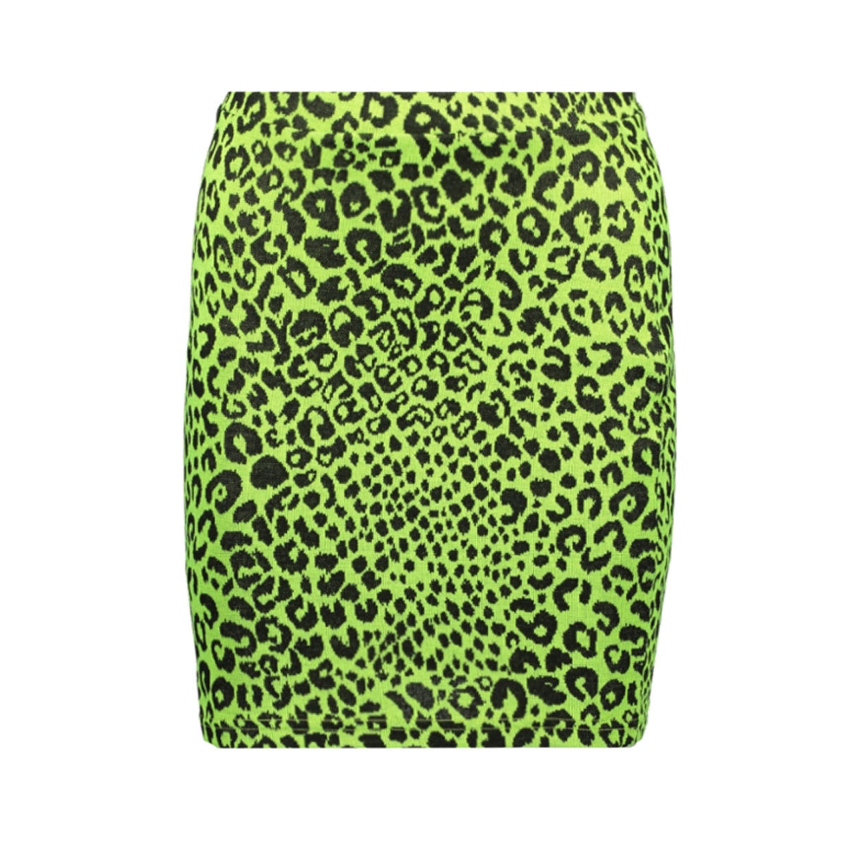 onlnete short skirt cs jrs 15194036 only rok neon yellow/leo