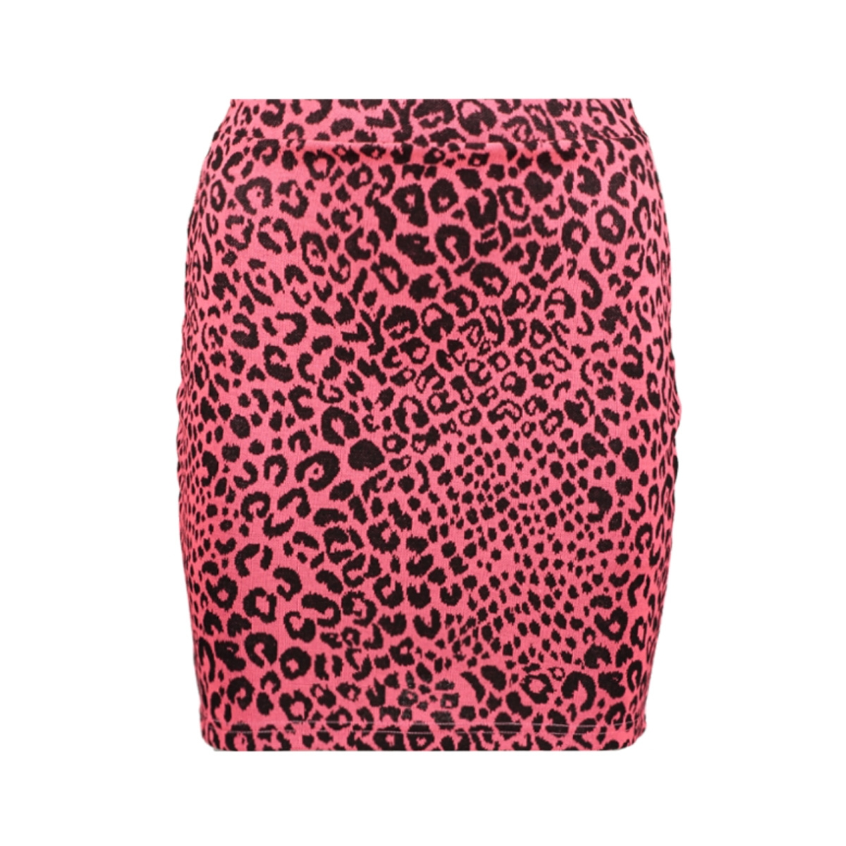onlnete short skirt cs jrs 15194036 only rok neon pink/leo
