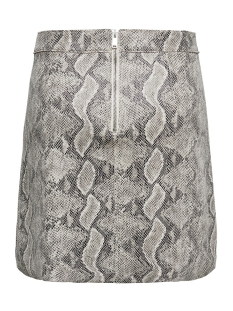 onljose faux suede snake skirt otw 15184996 only rok pumice stone/snake