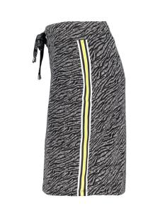 sosa printed skirt 193 zoso rok black/yellow