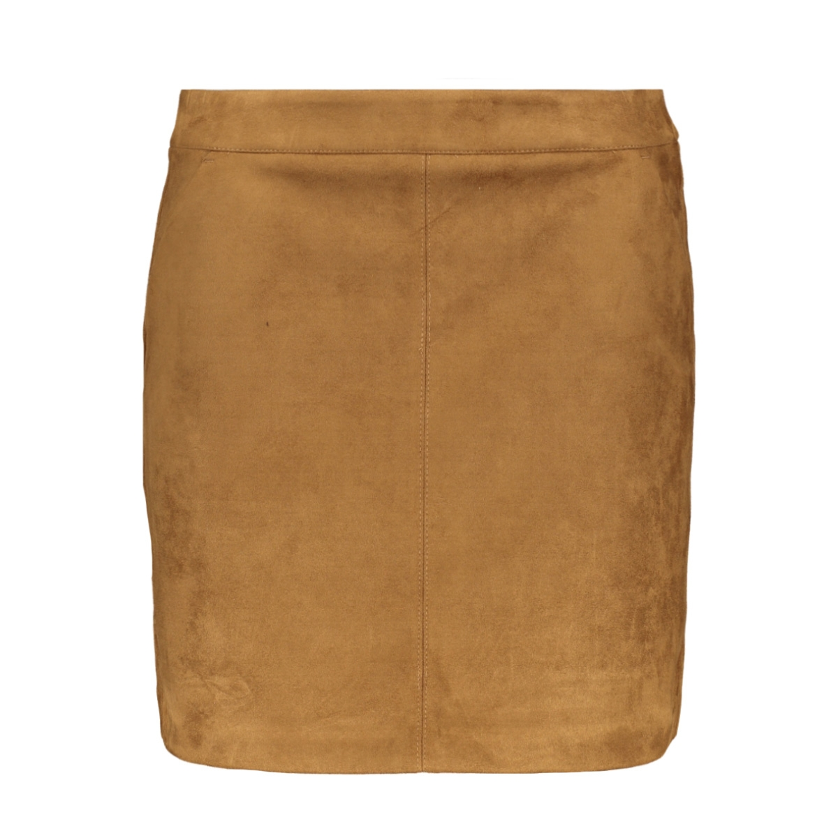 vmdonnadina faux suede short skirt 10210430 vero moda rok cognac