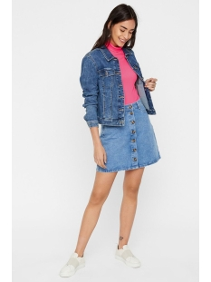 pcfate hw button skirt lb127-ar 17097384 pieces rok light blue denim