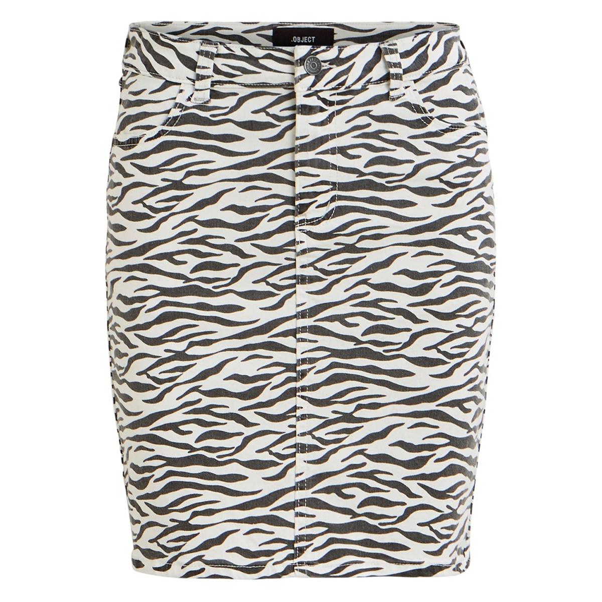 objwin new denim skirt aop seasonal 23030109 object rok white/zebra