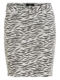 Object Rok OBJWIN NEW DENIM SKIRT AOP SEASONAL 23030109 White/ZEBRA