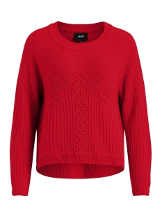 Object Trui OBJMARYGOLD L/S KNIT PULLOVER PB5 23028534 Fiery Red
