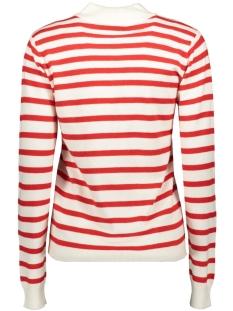 objthess l/s knit pullover seasonal 23030218 object trui gardenia/high risk red