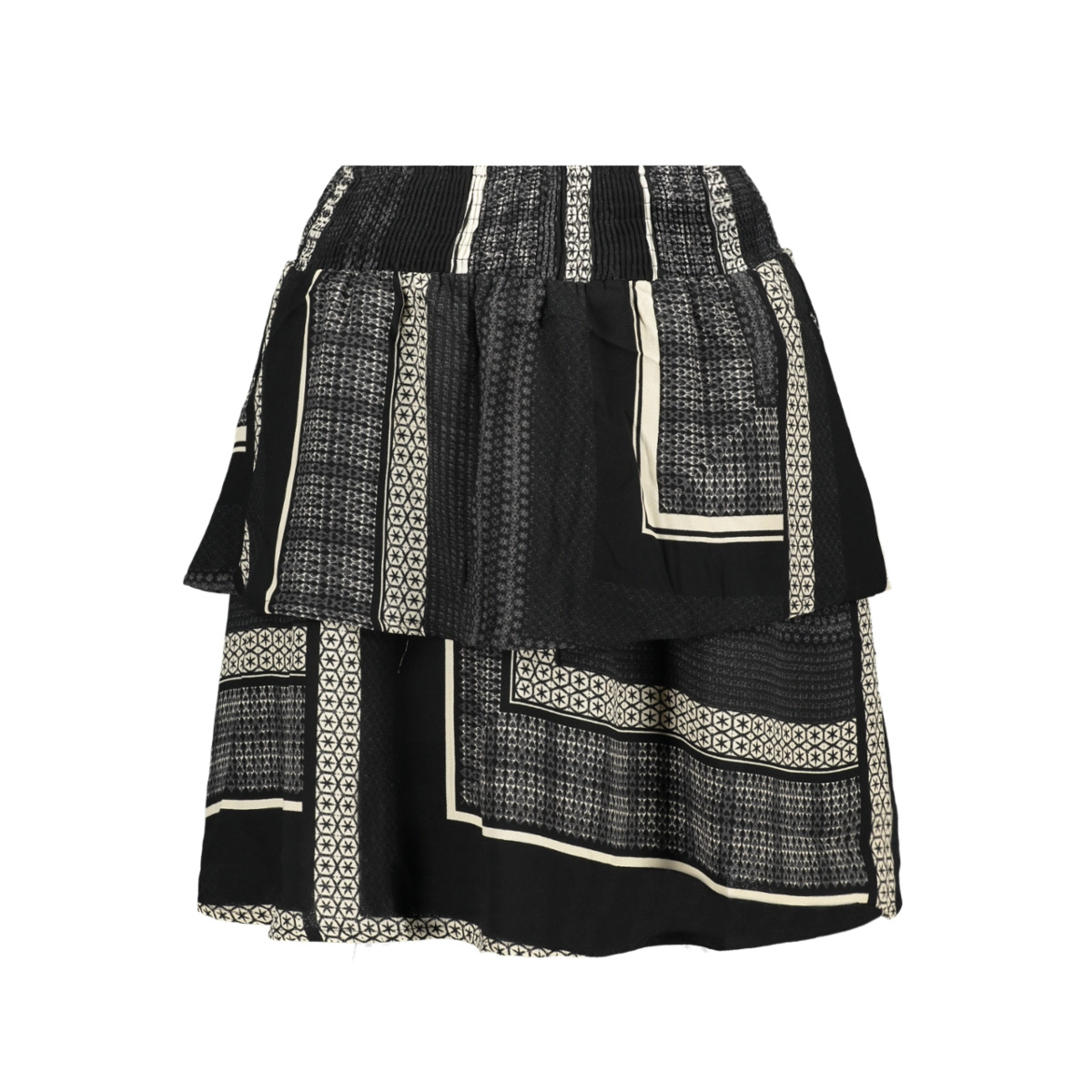 vmquinn short layer skirt vip 10223584 vero moda rok black