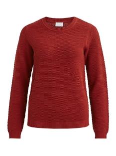vichassa l/s knit top-noos 14041979 vila trui ketchup