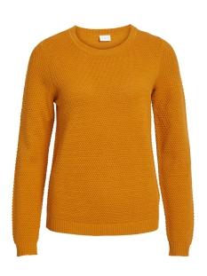 vichassa l/s knit top-noos 14041979 vila trui golden oak