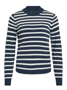 Object Trui OBJTHESS L/S KNIT PULLOVER NOOS 23030144 Sky Captain/GARDENIA