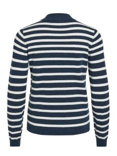 objthess l/s knit pullover noos 23030144 object trui sky captain/gardenia