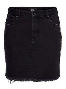 Only Rok ONLSKY LEO PANEL DNM SKIRT 15194723 Black Denim