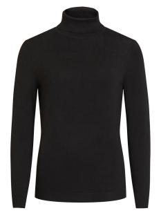 vibolonia knit l/s rollneck top-noos 14053551 vila trui black