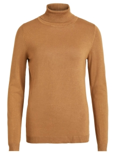 vibolonia knit l/s rollneck top-noos 14053551 vila trui tigers eye