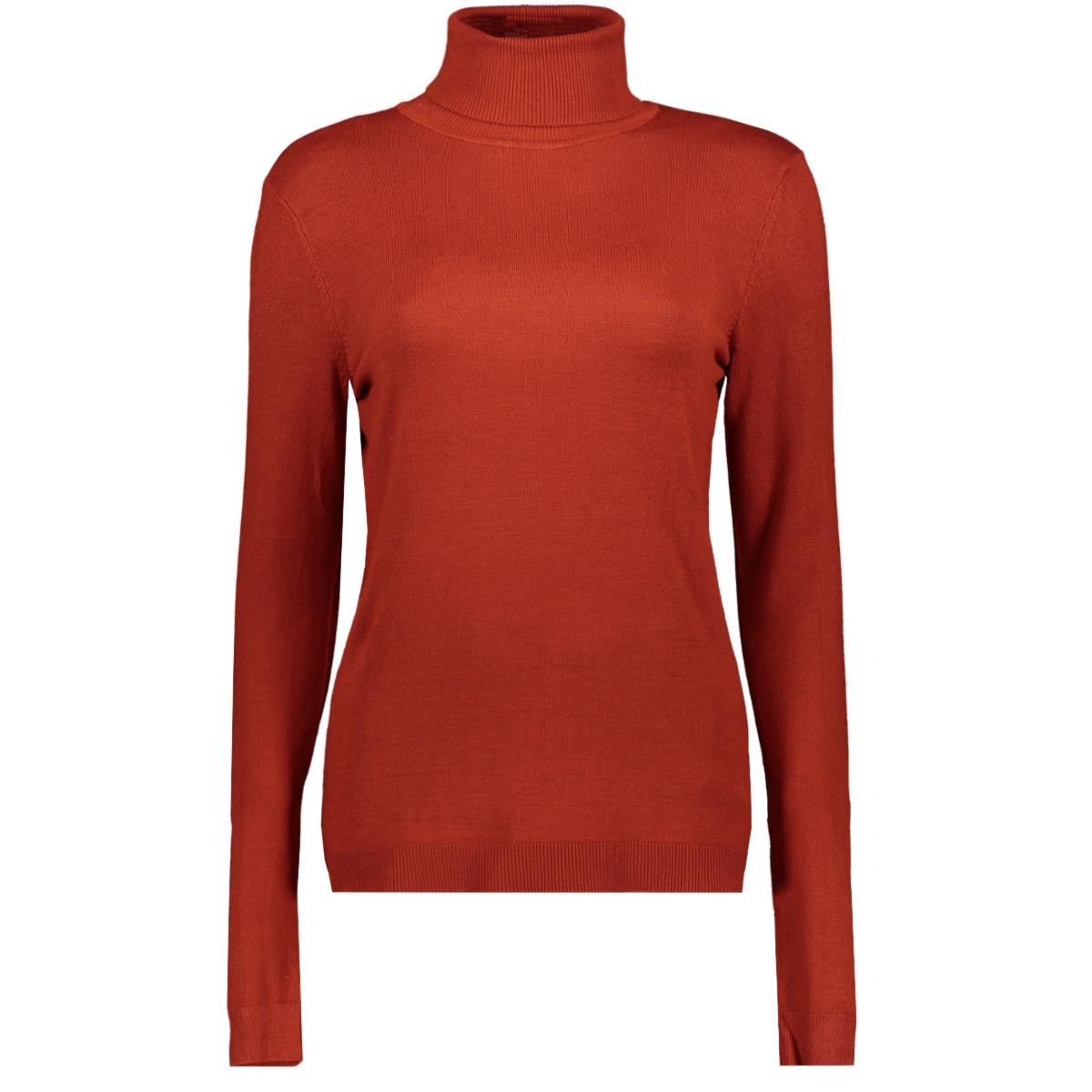 vibolonia knit l/s rollneck top-fav 14055711 vila trui ketchup