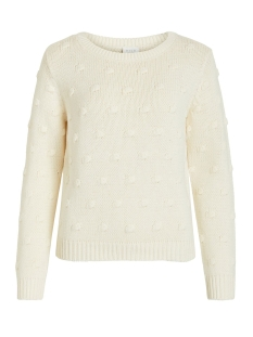 vironjo knit l/s top ki 14053565 vila trui whisper white