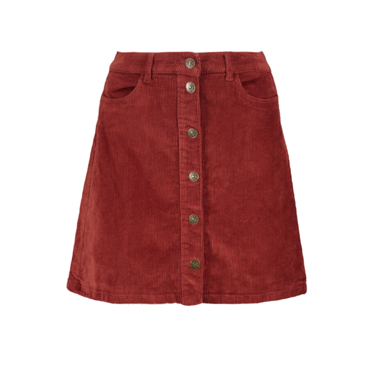onlglobal cord skirt pnt 15179431 only rok russet brown