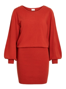 Vila Jurk VIVISTI KNIT BOATNECK L/S DRESS 14053244 Ketchup