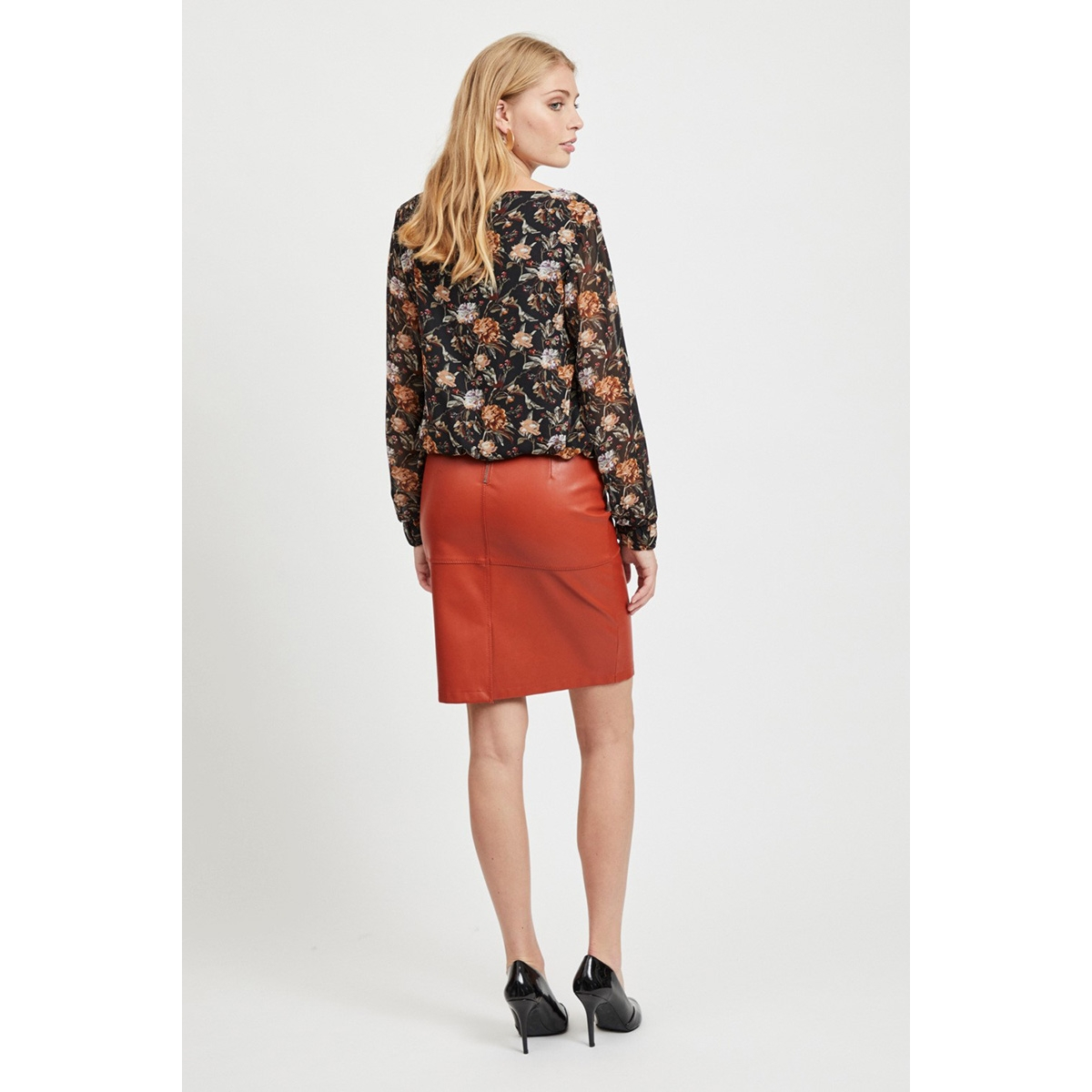 vipen new skirt noos 14033417 vila rok ketchup