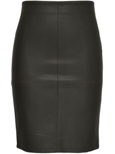 Only Rok ONLCELINA FAUX LEATHER MIDI SKIRT O 15165939 Black