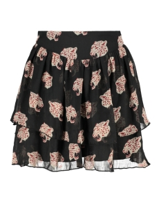 Only Rok ONLONA SHORT SKIRT WVN 15187178 Black/LEO HEADS