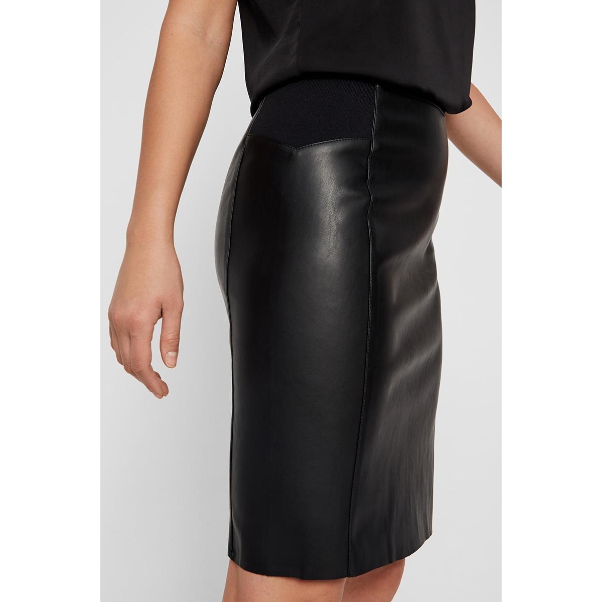 vmbuttersia hw coated skirt noos 10218187 vero moda rok black