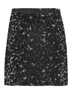 vmcocojana hw leopard short skirt 10218024 vero moda rok dark grey melange/leo