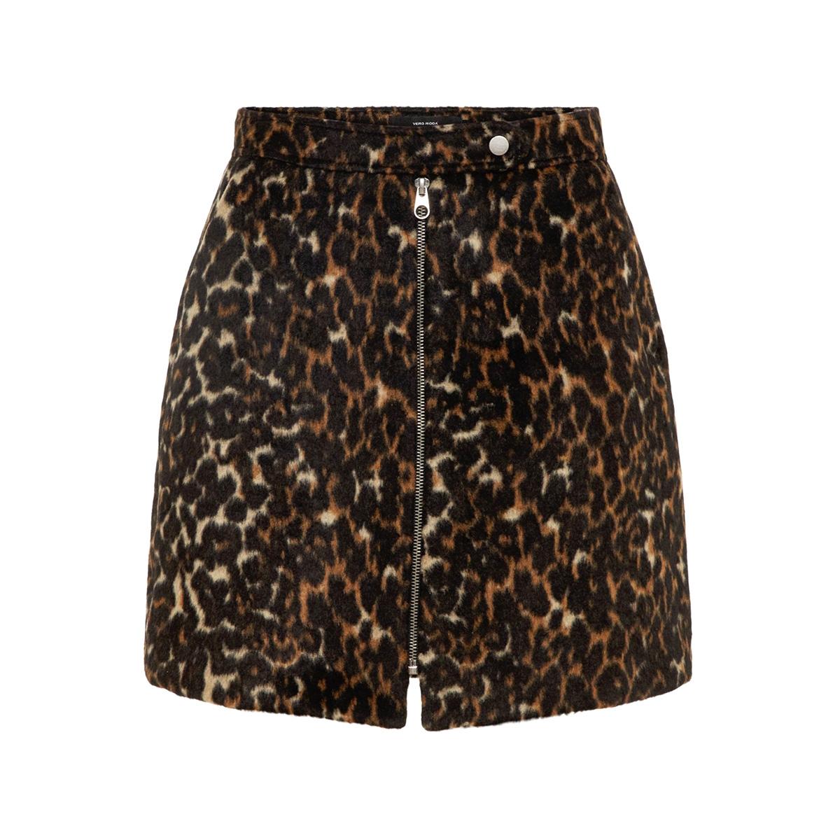 vmcocojana hw leopard short skirt 10218024 vero moda rok tobacco brown/leo