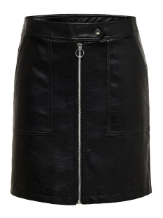 Only Rok ONLABIGAIL FAUX LEATHER SKIRT OTW 15181142 Black
