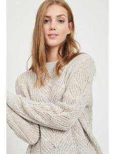 objnova stella l/s knit pullover noos 23030186 object trui humus/melange