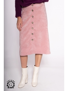 skirt corduroy button down gda12 0600 goût d'anvers rok soft pink