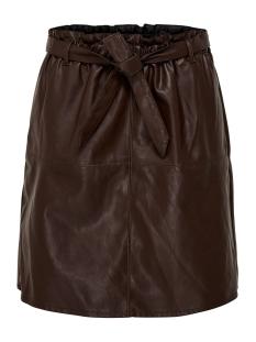 Only Rok ONLRIGIE HW PU PAPER BAG SKIRT PNT 15162797 Chocolate Plum
