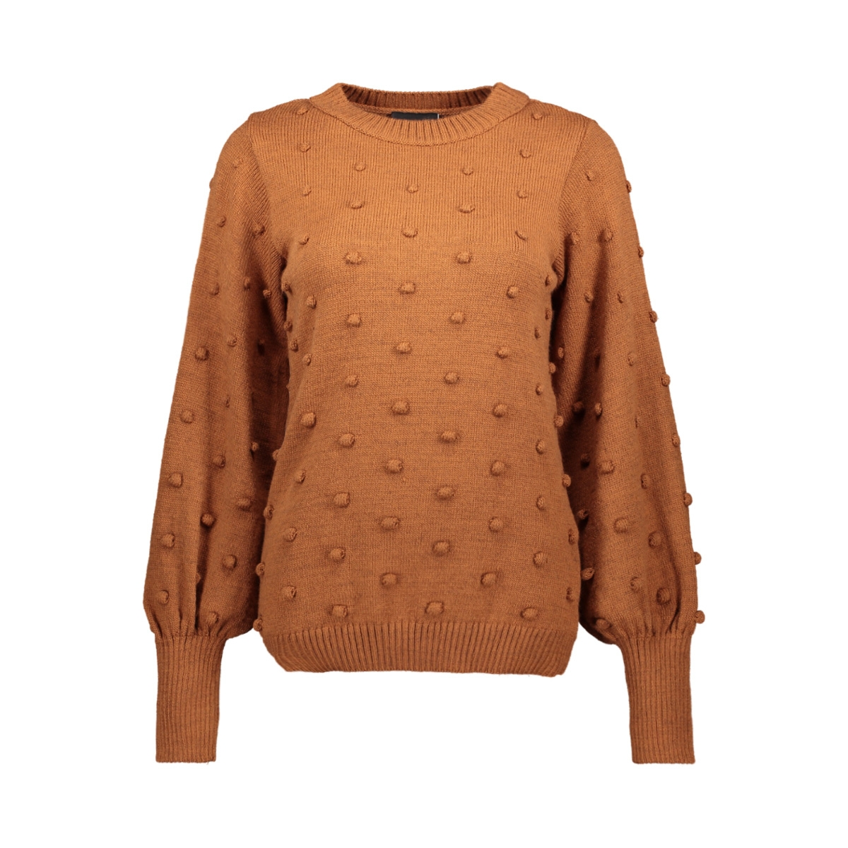 objbouble l/s knit pullover div 23027743 object trui brown patina