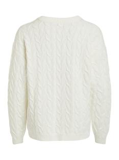 videpart knit l/s v neck top/su 14053744 vila trui whisper white