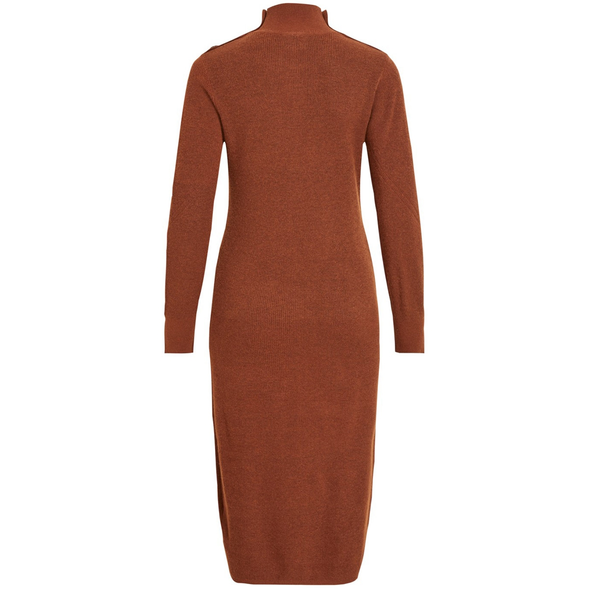 objjaney l/s knit dress 105 23030483 object jurk brown patina