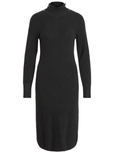 objjaney l/s knit dress 105 23030483 object jurk black