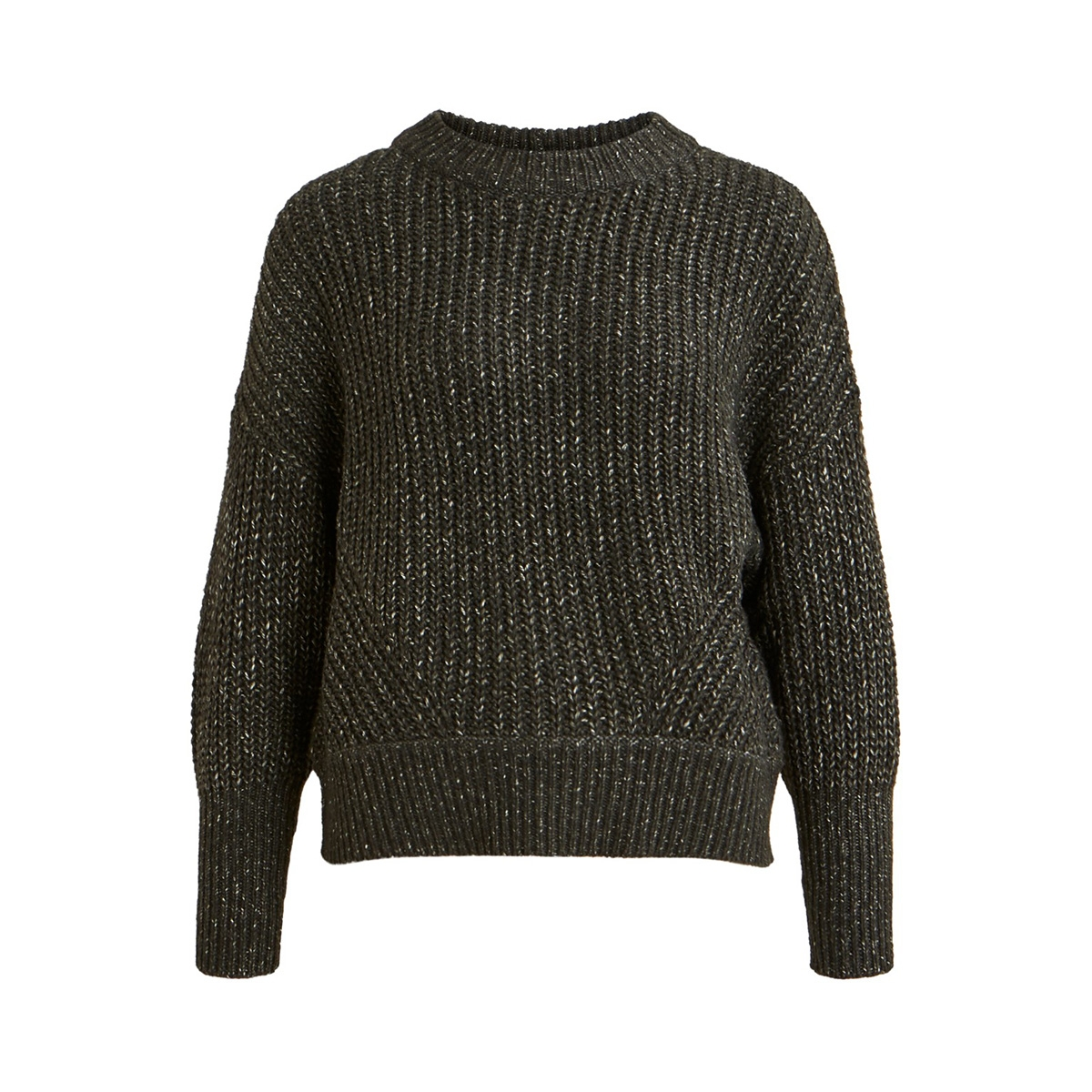 objmelody camper l/s knit pullover 23029953 object trui forest night/melange