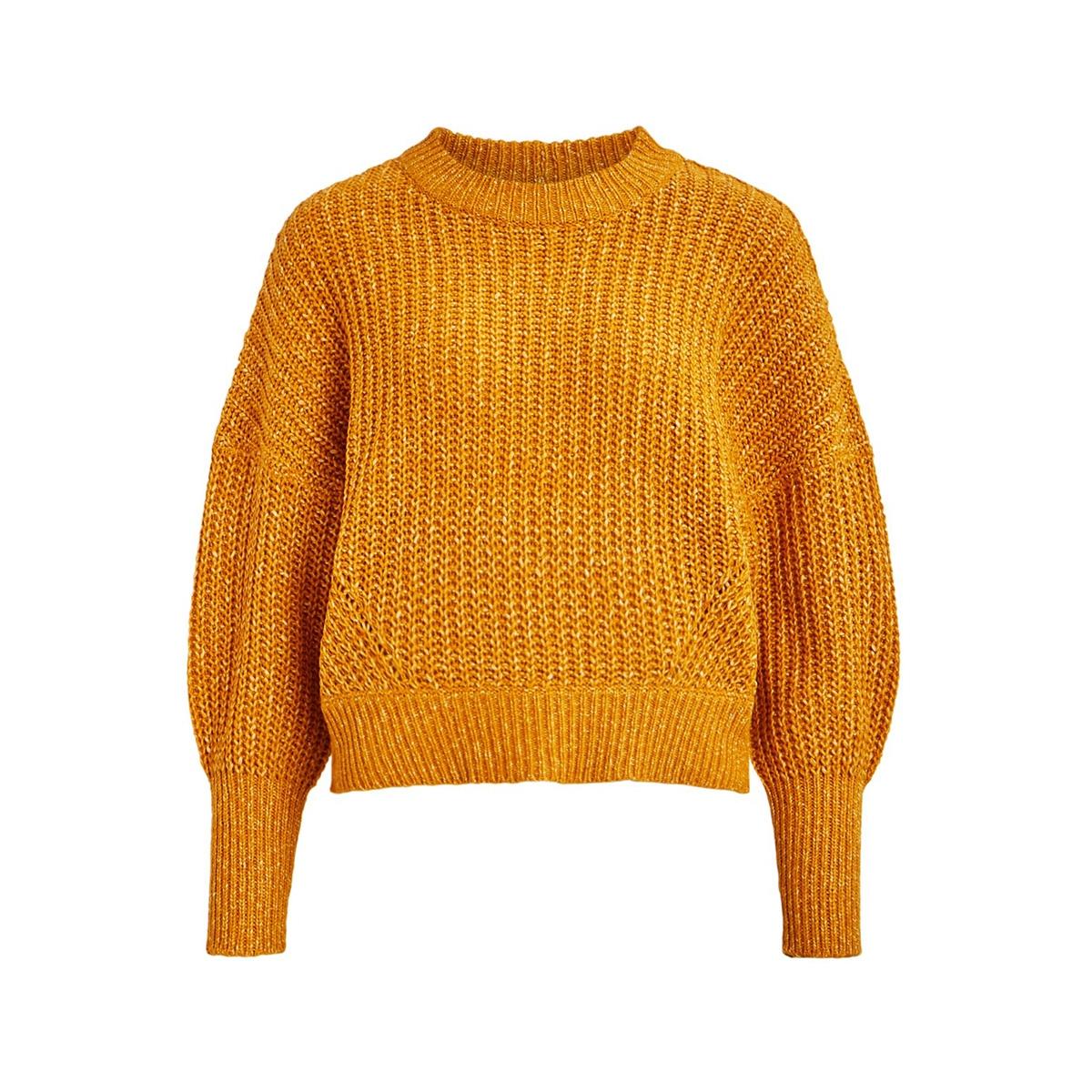 objmelody camper l/s knit pullover 23029953 object trui buckthorn brown/melange