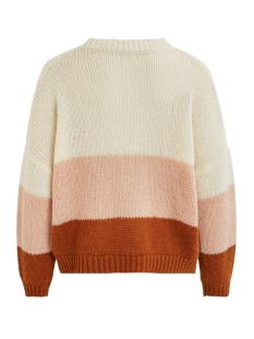 violet l/s knit top 14055307 vila trui cloud dancer/caramel café