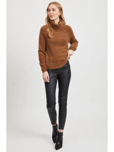 vialinja knit l/s top/ki 14053559 vila trui toffee