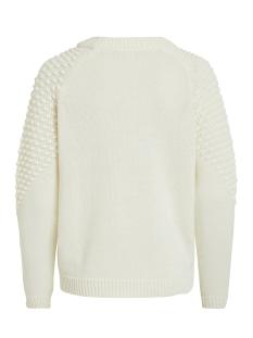 vidotana knit l/s top 14053653 vila trui whisper white